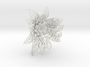 Flowers in White Natural Versatile Plastic