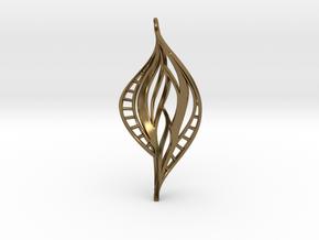 DNA Leaf Spiral (right) in Polished Bronze
