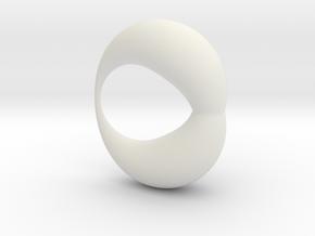 0053 Antisymmetric Torus (p=1.5) #002 in White Natural Versatile Plastic