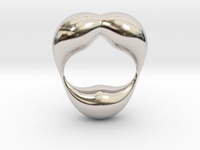 0055 Antisymmetric Torus  (p=2.5) #004 in Rhodium Plated Brass