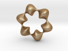 0059 AntisymmetricTorus (p=6.0) #008 in Matte Gold Steel