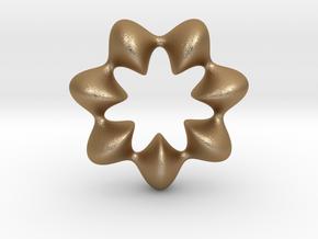 0066 AntisymmetricTorus (p=7.0) #009 in Matte Gold Steel