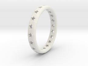 Ring Stars in White Natural Versatile Plastic
