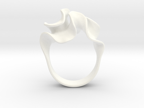 Micro Flora Ring in White Processed Versatile Plastic: 7 / 54