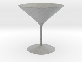 3d printed Martini Glass in Metallic Plastic