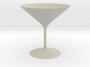 3d printed Martini Glass in Natural Sandstone