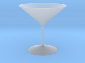 3d printed Martini Glass in Smooth Fine Detail Plastic