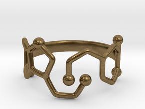 Dopamine Serotonin ring - size 6 in Natural Bronze