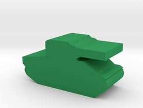Game Piece, WW2 Sherman Tank in Green Processed Versatile Plastic