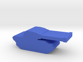 Game Piece, WW2 Panther Tank in Blue Processed Versatile Plastic