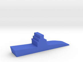 Game Piece, WW2 Submarine in Blue Processed Versatile Plastic