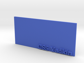 Base for 1/600 CSS Yadkin in Blue Processed Versatile Plastic