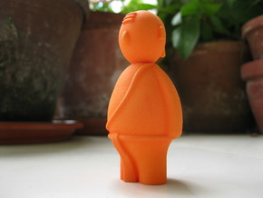 South Indian iyer - Indian-vidual Indian style fig in Orange Processed Versatile Plastic