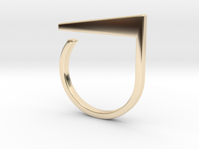 Adjustable ring. Basic model 2. in 14K Yellow Gold