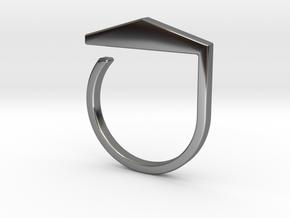 Adjustable ring. Basic model 3. in Fine Detail Polished Silver
