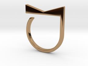 Adjustable ring. Basic model 4. in Polished Brass