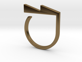 Adjustable ring. Basic model 6. in Polished Bronze