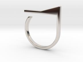 Adjustable ring. Basic model 7. in Rhodium Plated Brass