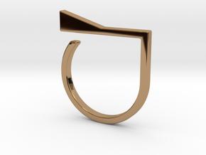 Adjustable ring. Basic model 8. in Polished Brass