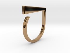 Adjustable ring. Basic model 1. in Polished Brass