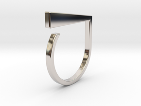 Adjustable ring. Basic model 1. in Rhodium Plated Brass