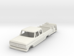 1/64 1967 Ford Crew Cab pickup in White Strong & Flexible