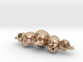 Skull Bracelet in 14k Rose Gold Plated Brass