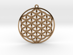 Flower Of Life Pendant in Polished Brass