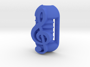 Headphone Jack Support part 2 in Blue Processed Versatile Plastic