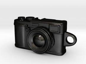 Fujifilm x100s Camera Pendant Keychain in Matte Black Steel