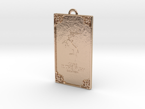 Game of Thrones - Baratheon Pendant in 14k Rose Gold Plated Brass
