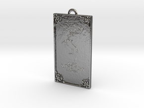 Game of Thrones - Baratheon Pendant in Fine Detail Polished Silver