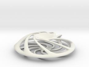 Orb Stone Holder in White Natural Versatile Plastic