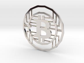 Bitcoin Pin in Platinum