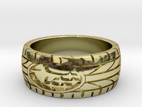 SUBARU ring size 17 mm (US 6 1/2) in 18k Gold