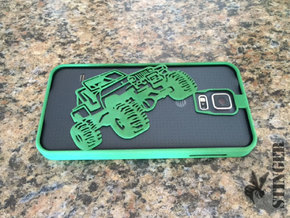 Off-Road Phone Case - Galaxy S5 in Green Processed Versatile Plastic
