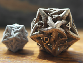 Large Celtic D20 in Stainless Steel