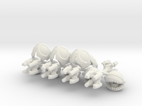 Scrapaci Famishius (5 pack) in White Natural Versatile Plastic