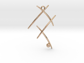 Ball On Stick in 14k Rose Gold Plated Brass