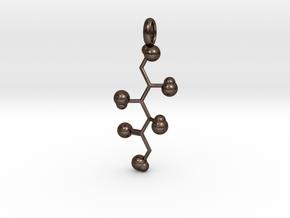 Sugar Pendant in Polished Bronze Steel