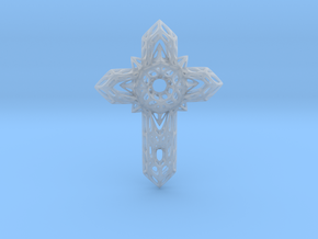 Cross  in Smooth Fine Detail Plastic