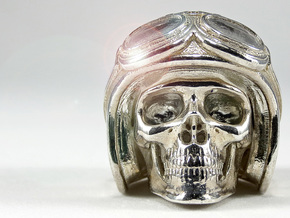 "Easy Rider Skull Pendant ""Silver"" in Polished Silver"