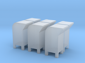 6 N-scale USPS Postal Boxes in Frosted Ultra Detail