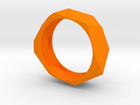 Geo Bracelet  in Orange Strong & Flexible Polished
