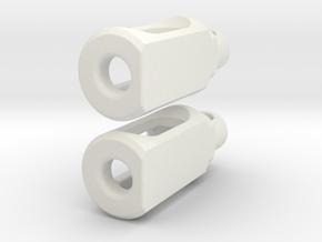 Tritium Earrings 2  (3x11mm Vials) in White Natural Versatile Plastic
