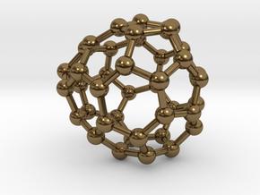0121 Fullerene C40-15 c2 in Polished Bronze
