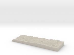 Model of Rancheria Mountain in Sandstone