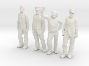 1:29 scale low res standing figure pack in White Natural Versatile Plastic