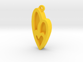 Unova Pendant [Insect] in Yellow Processed Versatile Plastic