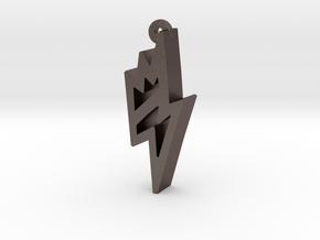 Unova Pendant [Bolt] in Polished Bronzed Silver Steel